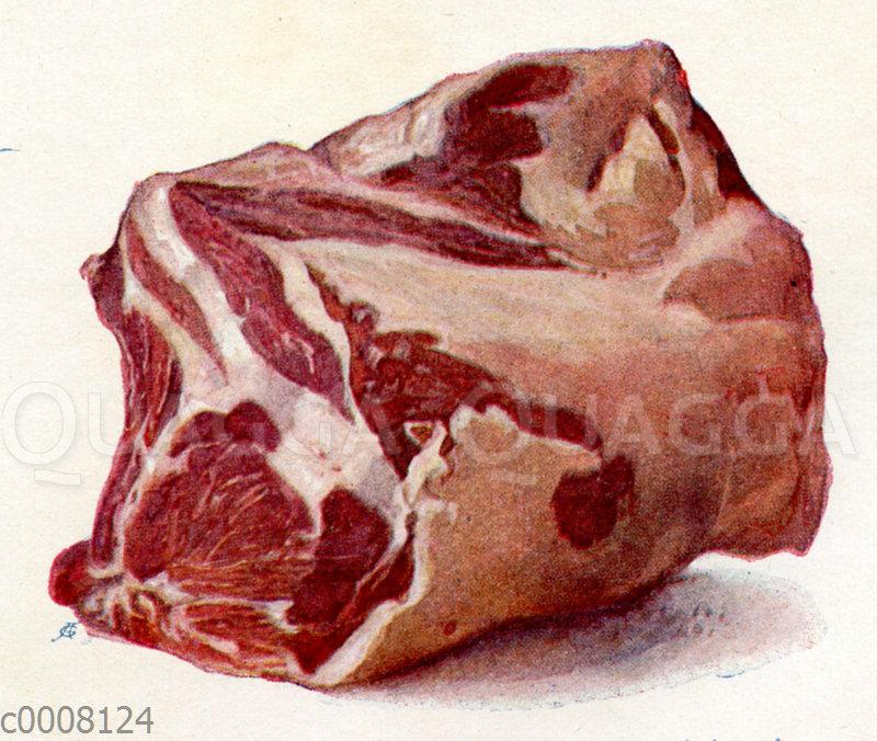 Fleisch: Rippenstück (Kotelett) vom Schwein