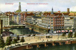 Hamburg: Reesendamm mit Alsterarkaden