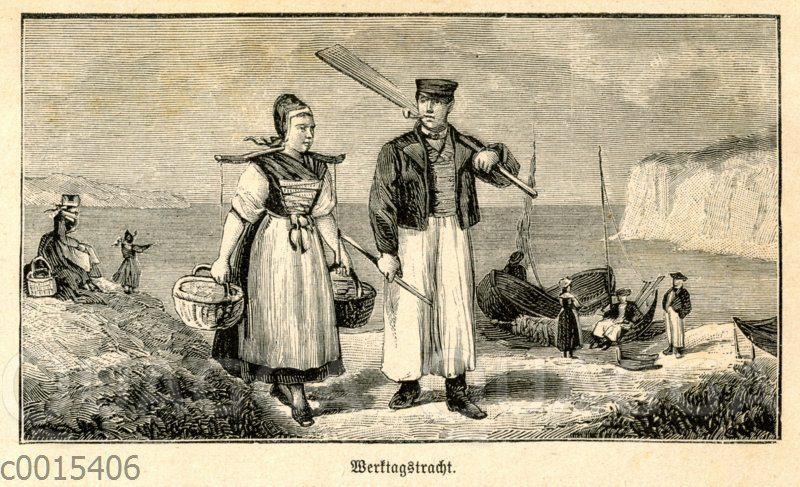Werktragstracht der Bauern und Fischer im Mönchgut auf Rügen