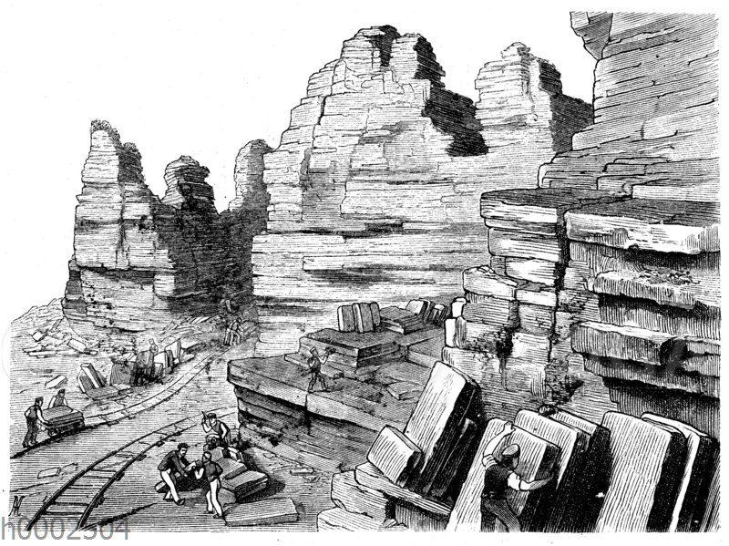 Steinbruch im lithographischen Schiefer bei Solnhofen