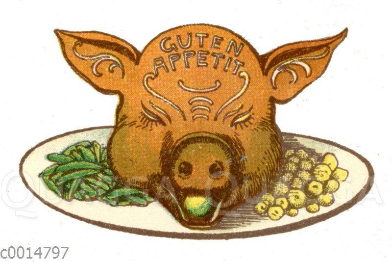Figurentorte: Schweinskopf