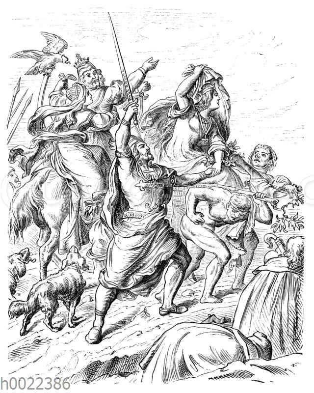 Ankunft der Kreuzfahrer vor Jerusalem