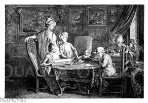 Daniel Chodowiecki mit seiner Familie
