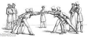 Studentenleben um 1820-1830: Paukerei