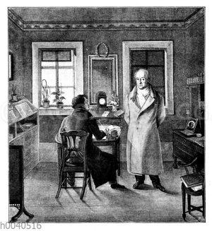 Johann Wolfgang von Goethe in seinem Arbeitszimmer