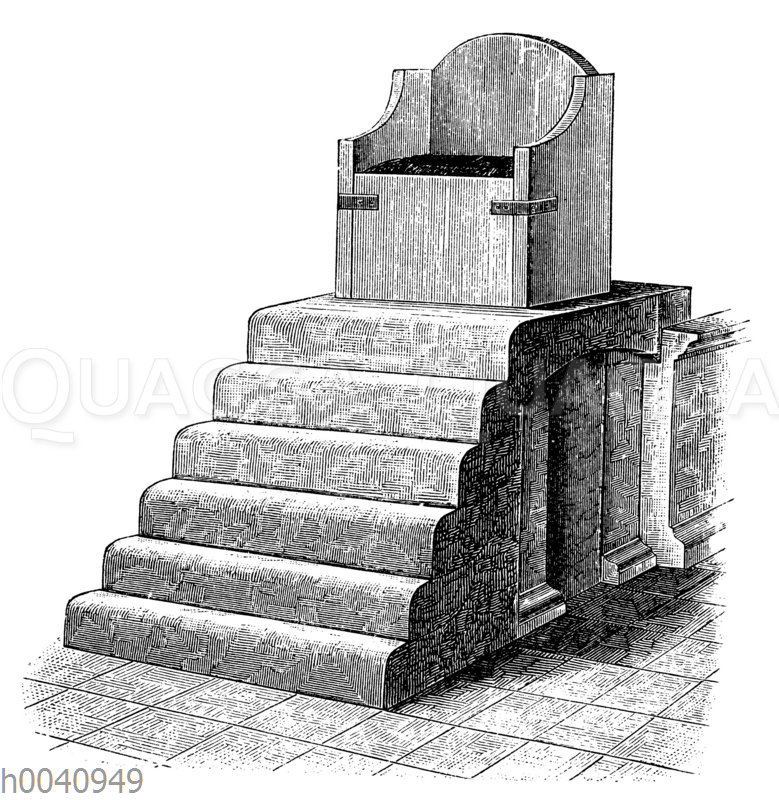 Marmorthron Karls des Großen im Dom zu Aachen