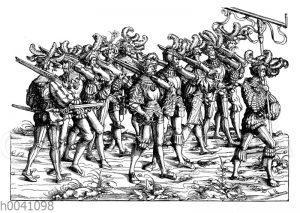 Landsknechte mit Büchsen aus dem Triumphzug Maximilians I.