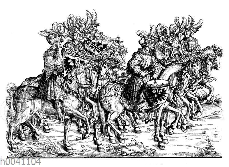 Reichs-Trompeter: Gruppe im Triumphzug Maximilians I.