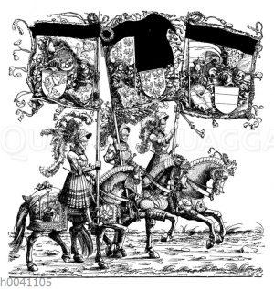 Gruppe in dem Triumphzug Maximilians I.