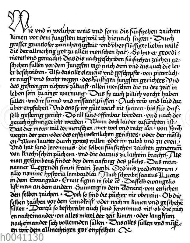 Holzplattendruck vor Gutenbergs Erfindung der beweglichen Metalltypen