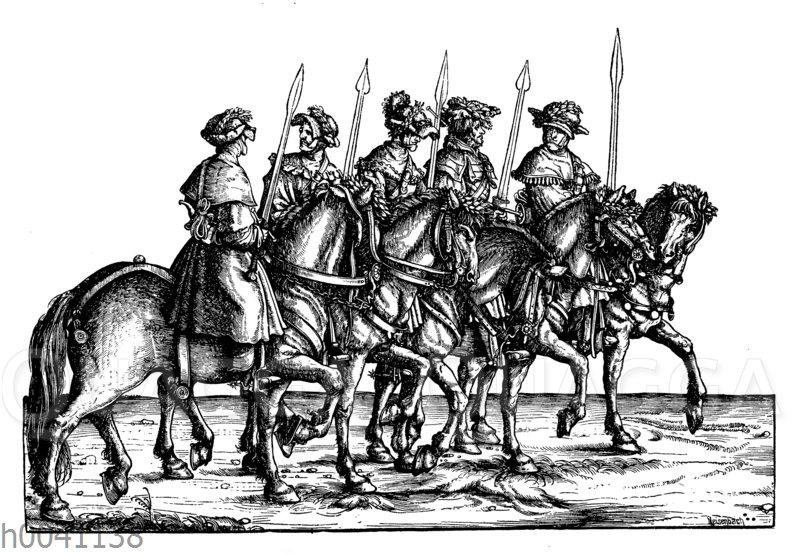 Schwarzwildjäger: Gruppe aus Maximilians I. Jägerei