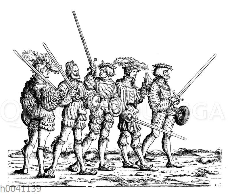 Gruppe von Fechtern in Kaiser Maximilians I. Triumphzug