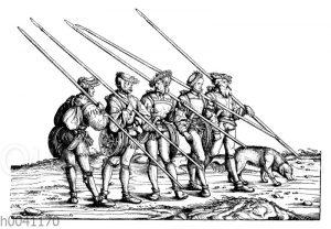 Gemsjäger: Gruppe aus Maximilians I. Jägerei