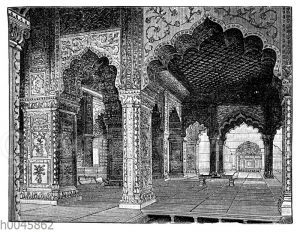 Saal im Palast des Großmoguls in Delhi