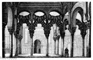 Innenansicht der Moschee in Cordoba