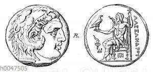 Silbermünze Alexanders des Großen