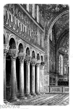 Inneres der von Theodorich um 500 erbauten arianischen Kathedrale in Ravenna