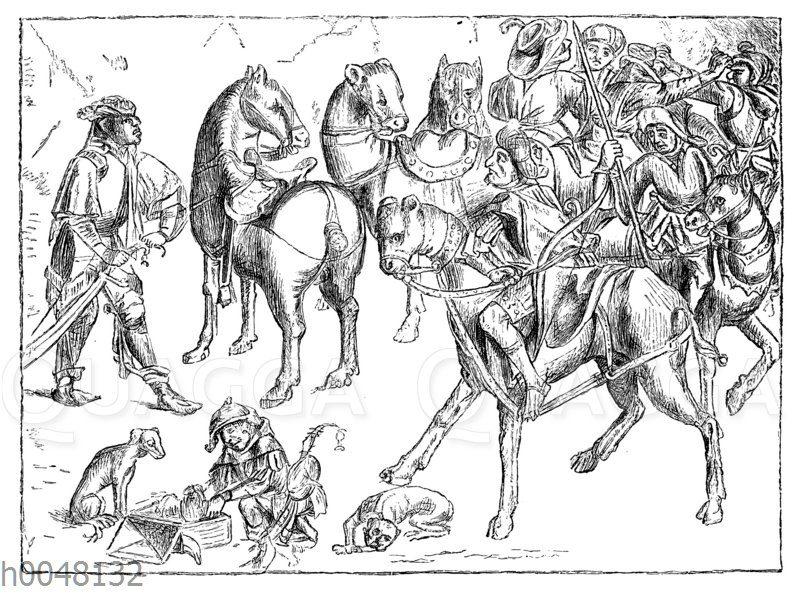 Älteste Abbildung türkischer Krieger