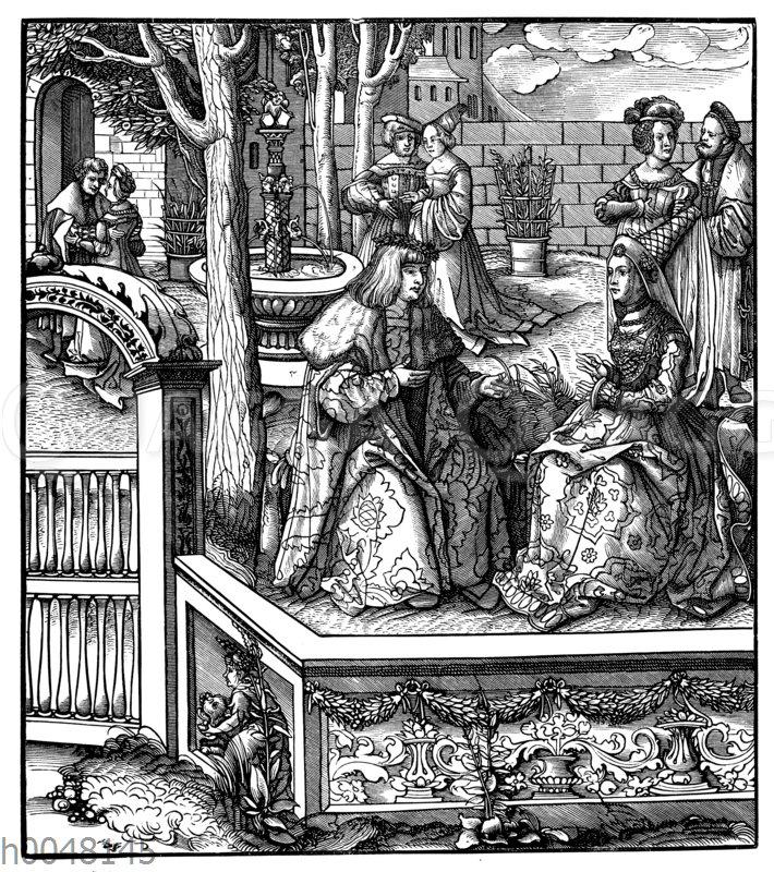 Maximilian I. und seine junge Gemahlin Maria von Burgund