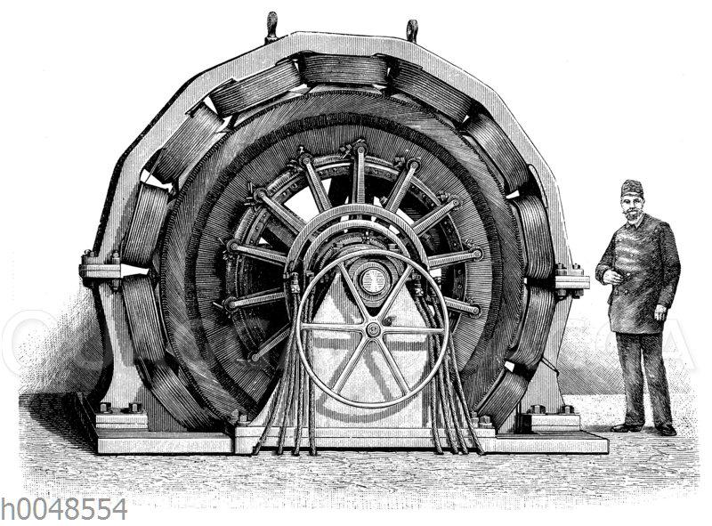 Gleichstrommaschine für Elektrizitätswerke von Schuckert & Co.