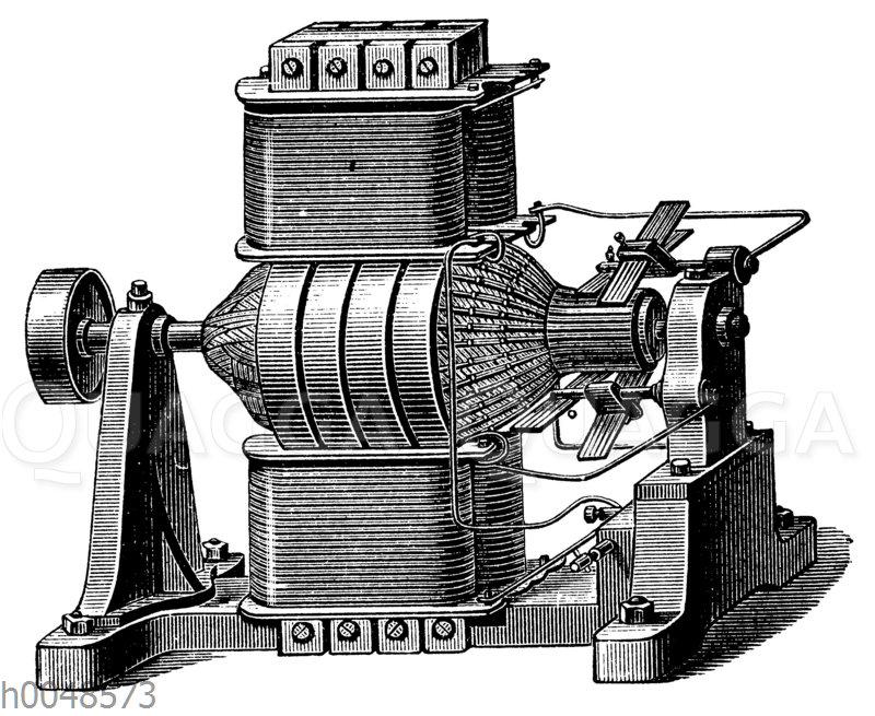 Dynamomaschine von Hefner-Alteneck-Siemens