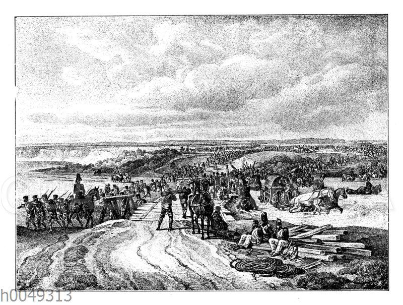 Übergang der französischen Truppen übe den Dnjepr bei Dorogody am 26. August 1812