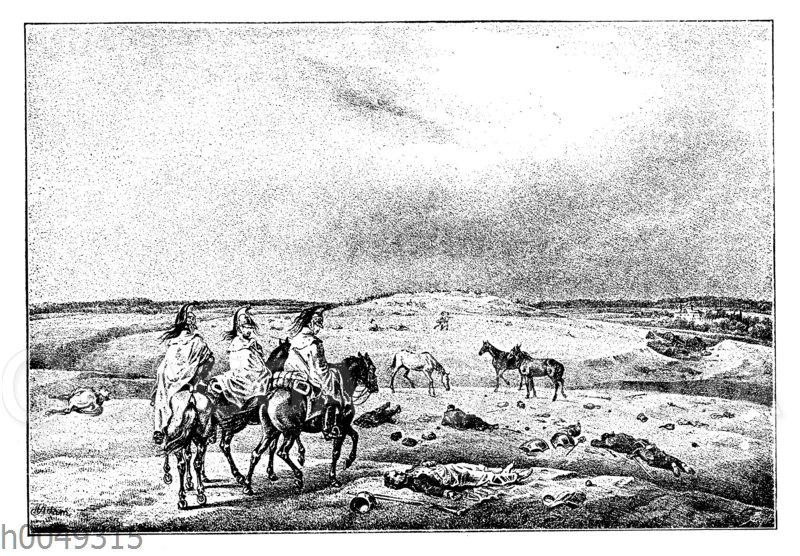 Das Schlachtfeld von Borodino am Tag nach der Schlacht (8. September 1812)