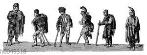Verletzte der französischen Armee bei Ihrer Rückkehr nach Frankreich 1813