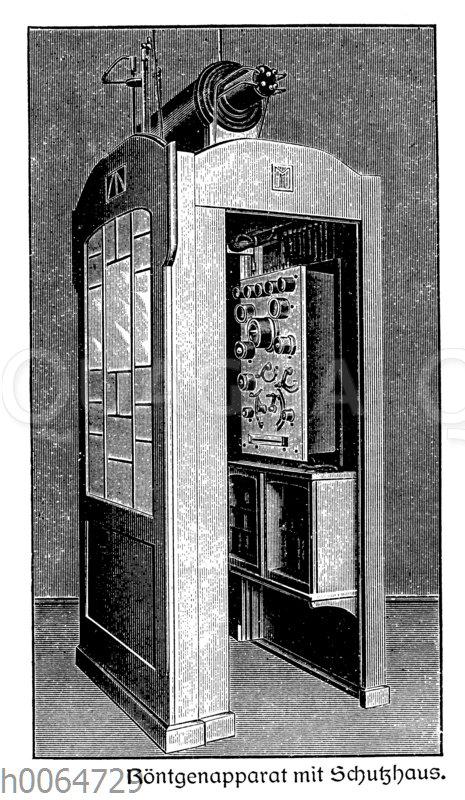 Röntgenapparat mit Schutzhaus
