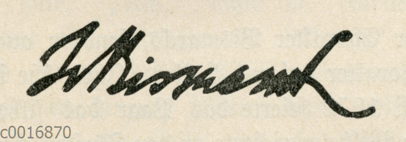 Johanna von Bismarck: Autograph