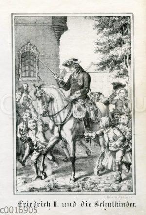 Friedrich II. und die Schulkinder