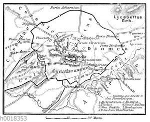 Plan des alten Athen