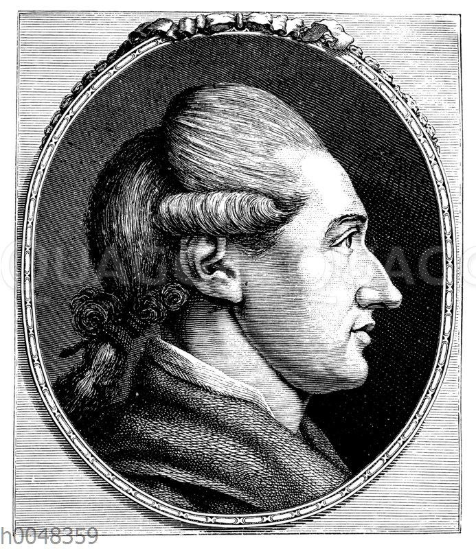 Johann Wolfgang von Goethe im etwa 28. Lebensjahre