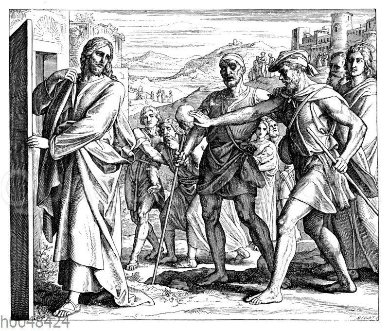 Jesus heilt zwei Blinde