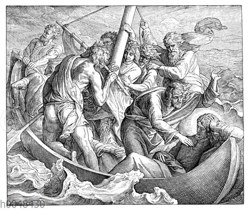 Jesus gebietet dem Wind und dem Meer