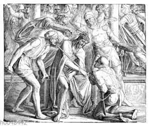 Jesus mit Dornen gekrönt