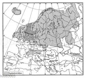 Die ehemals vergletschterten Gebiete von Europa