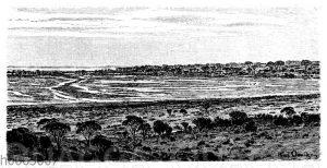 Der Salzsee Deborah in Westaustralien