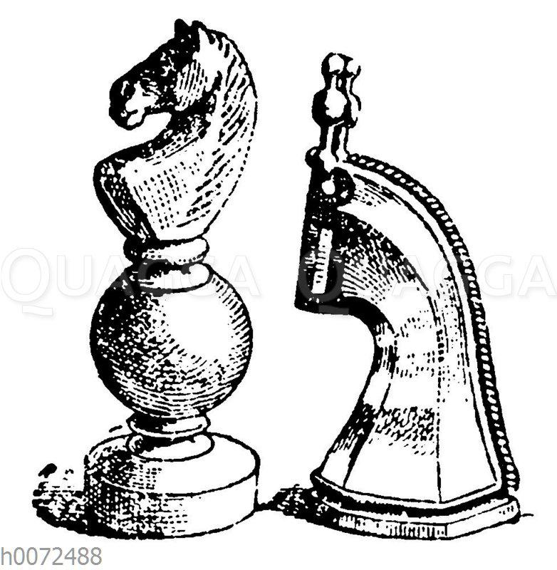 Schachfiguren: Springer