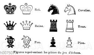 Symbole für die Figuren im Schachspiel