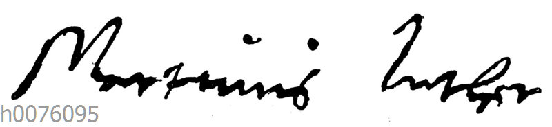 Martin Luther: Autograph