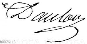 Georges Danton: Unterschrift