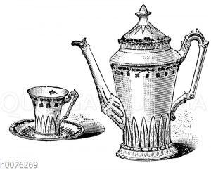 Kaffeekanne und Kaffeetasse