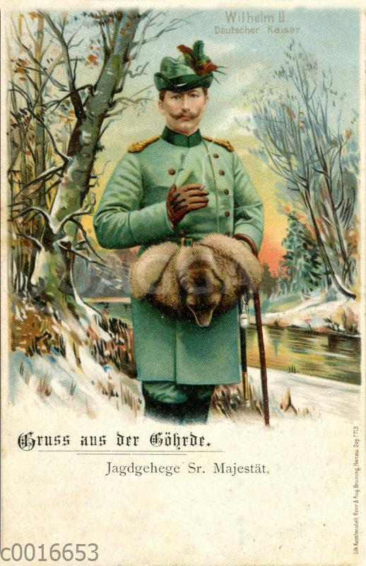 Kaiser Wilhelm II. in Jagdkleidung