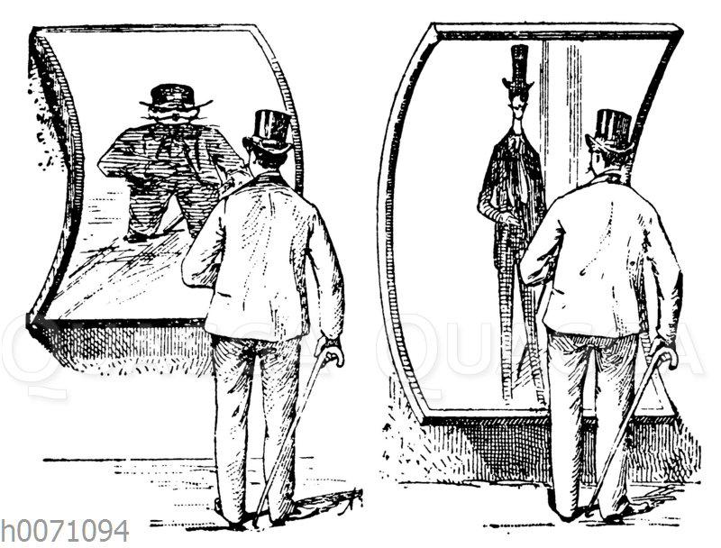 Mann im Spiegelkabinett