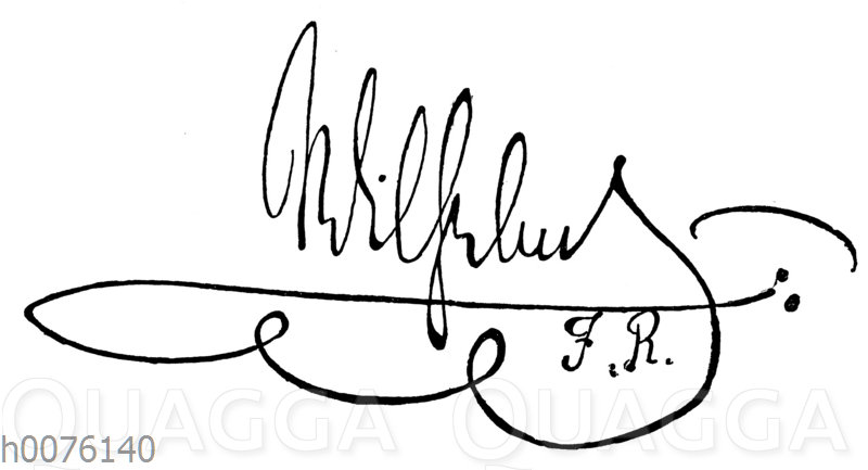 Kaiser Wilhelm II. Autograph