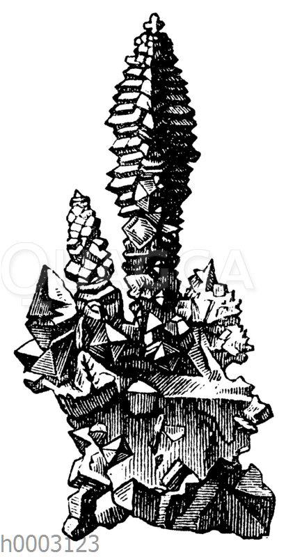 Schwefelkies in treppenförmigen Anhäufungen