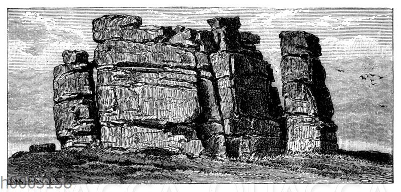 Grantifels mit qauderförmiger Absonderung: Mittagstein auf dem Riesengebirge