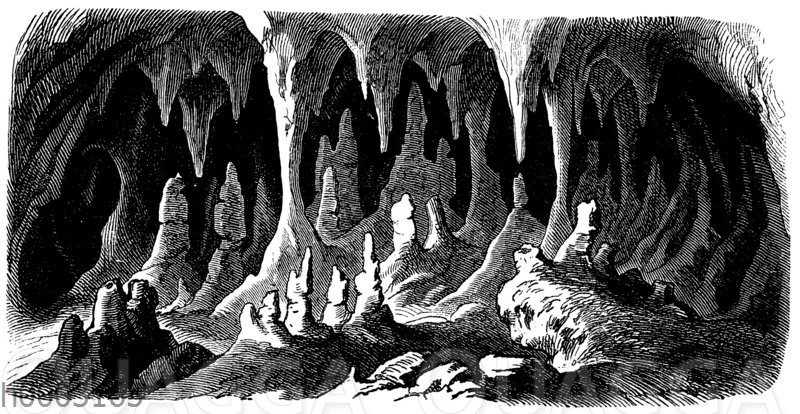 Tropfsteinhöhle im Kalkgebirge: Adelsberger Grotte