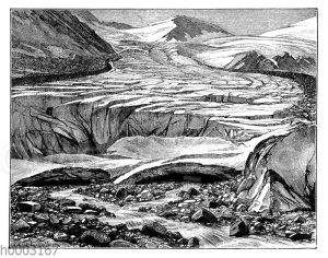 Abtauender Gletscher